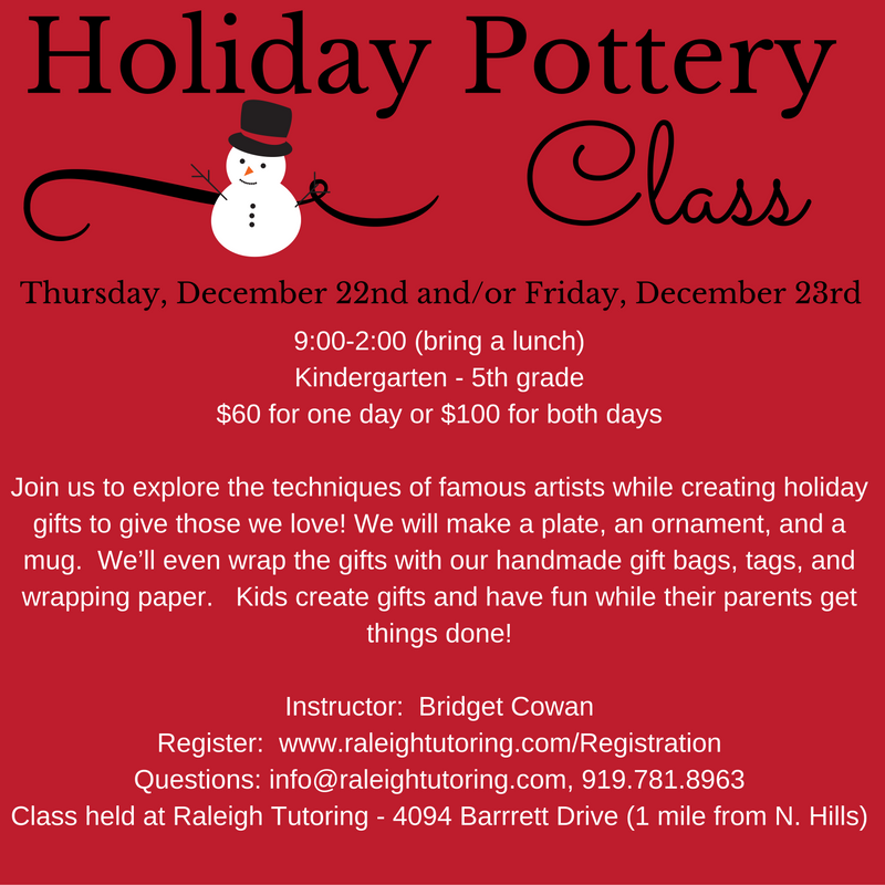Holiday Pottery Painting Class